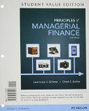 Principles of Managerial Finance, Student Value Edition  14th 2015 edition cover
