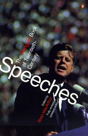 Penguin Book of 20th-Century Speeches  2nd 1999 (Revised) edition cover