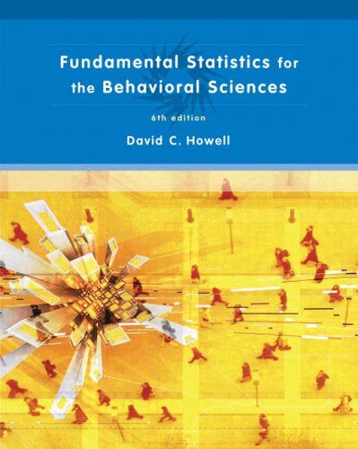 Fundamental Statistics for the Behavioral Sciences  6th 2008 (Revised) edition cover
