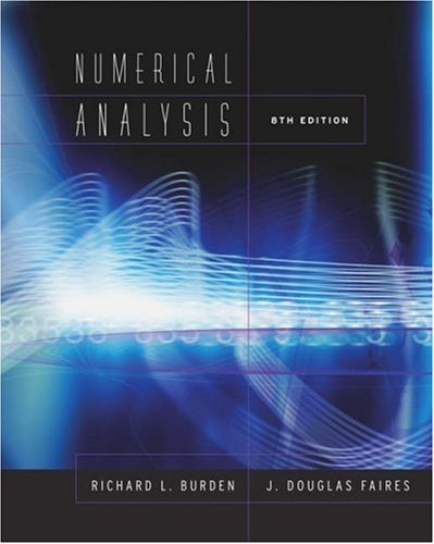 Numerical Analysis  8th 2005 edition cover