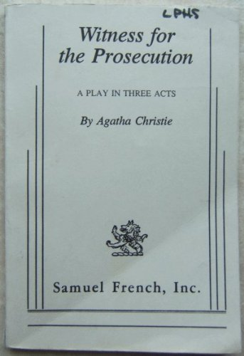 Witness for the Prosecution N/A edition cover
