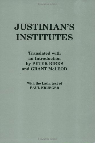 Justinian's Institutes  N/A edition cover