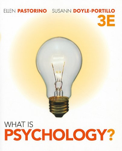 What Is Psychology?  3rd 2012 edition cover