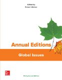 Annual Editions: Global Issues, 32/e  32nd 2017 9781259676000 Front Cover