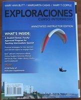EXPLORACIONES CURSO INTERMEDIO >ANNOT<  N/A 9781285738000 Front Cover
