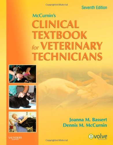 McCurnin's Clinical Textbook for Veterinary Technicians  7th 2010 edition cover