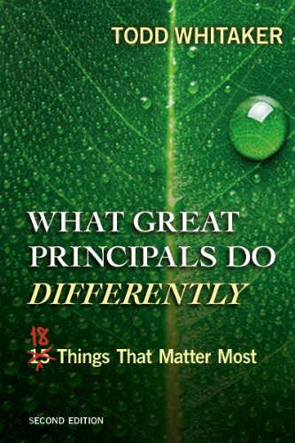 What Great Principals Do Differently Eighteen Things That Matter Most 2nd 2012 (Revised) 9781596672000 Front Cover