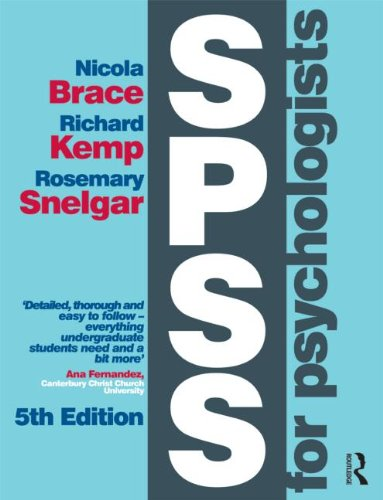 SPSS for Psychologists Fifth Edition 5th 2013 (Revised) edition cover