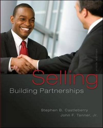 Selling: Building Partnerships  9th 2014 9780077861001 Front Cover
