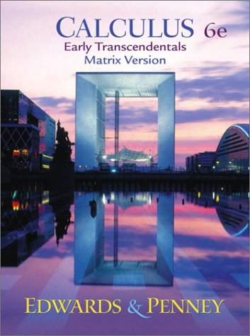 Calculus Early Transcendentals 6th 2002 (Revised) edition cover