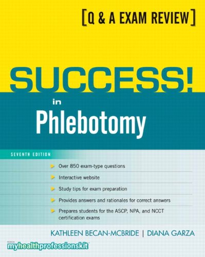 Success! in Phlebotomy  7th 2011 edition cover