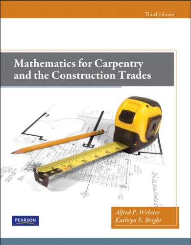 Mathematics for Carpentry and the Construction Trades  3rd 2012 edition cover