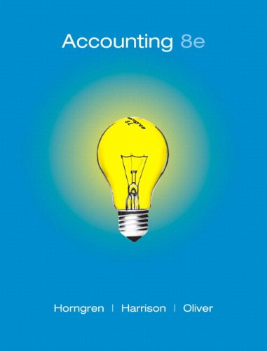 Accounting 8th 2009 edition cover