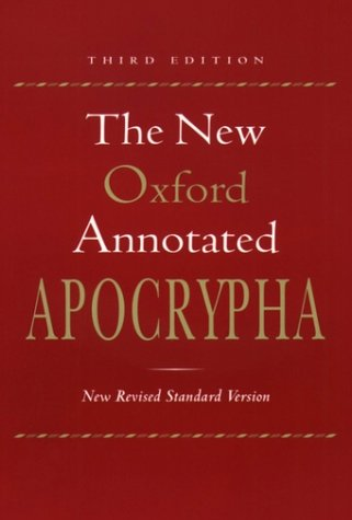 New Oxford Annotated Apocrypha  3rd 2001 (Revised) edition cover