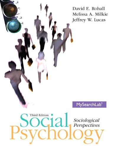 Social Psychology  3rd 2014 edition cover