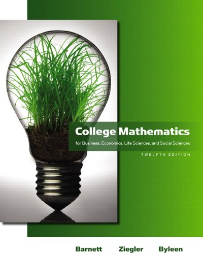 College Mathematics for Business, Economics, Life Sciences and Social Sciences  12th 2011 edition cover