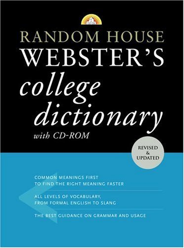 Random House Webster's College Dictionary with CD-ROM   2005 (Large Type) edition cover