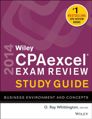 Wiley Cpa Exam Review 2014 Business Environment and Concepts 11th 2013 edition cover