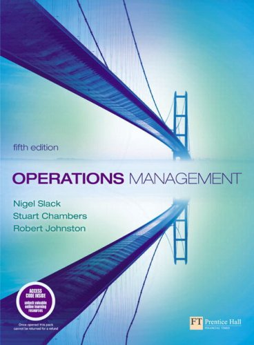 Operations Management with Companion Website with GradeTracker Student Access Card  5th 2007 (Revised) 9781405847001 Front Cover
