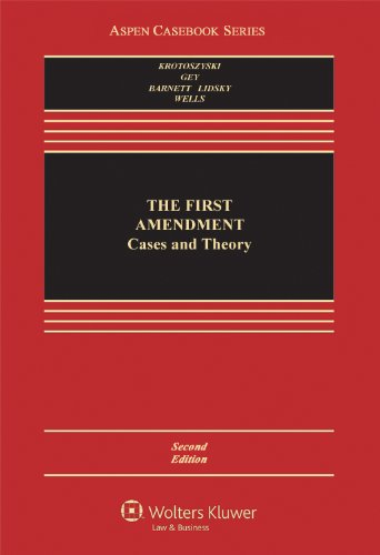 The First Amendment Cases and Theory:   2013 edition cover