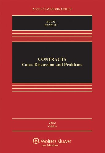 Contracts: Cases, Discussion, and Problems 3rd 2012 (Revised) edition cover