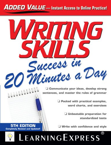 Writing Skills Success in 20 Minutes a Day  5th 2012 edition cover