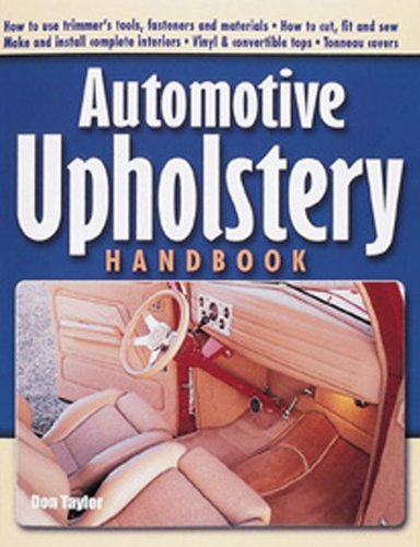 Automotive Upholstery Handbook   2001 edition cover