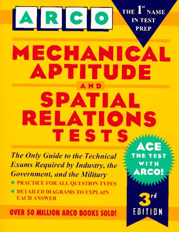 Arco Mechanical Aptitude and Spatial Relations Tests 3rd 1996 edition cover