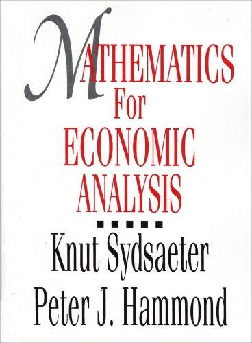 Mathematics for Economic Analysis  1st 1995 edition cover