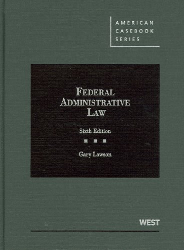 Federal Administrative Law:   2012 9780314282002 Front Cover