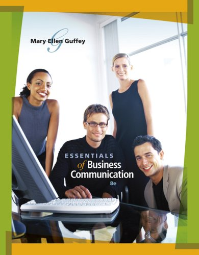 Essentials of Business Communication  8th 2010 edition cover