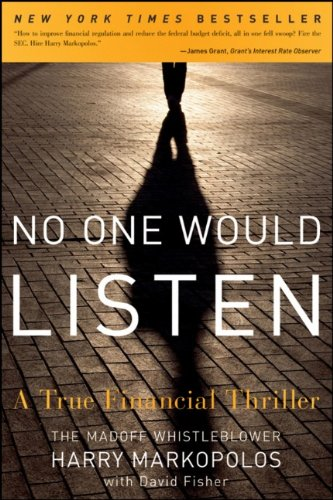No One Would Listen A True Financial Thriller  2010 9780470919002 Front Cover