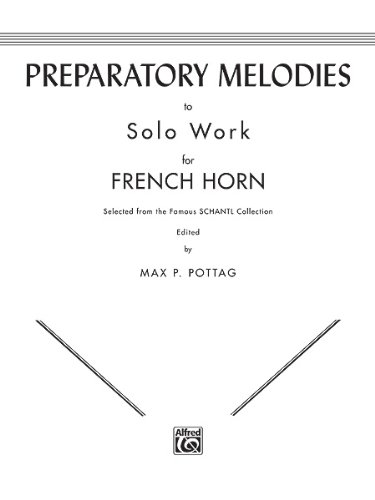 Preparatory Melody to Solo Work for French Horn   1985 edition cover