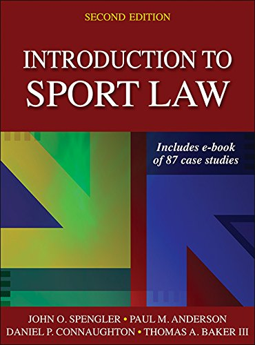 Introduction to Sport Law With Case Studies in Sport Law:   2016 9781450457002 Front Cover