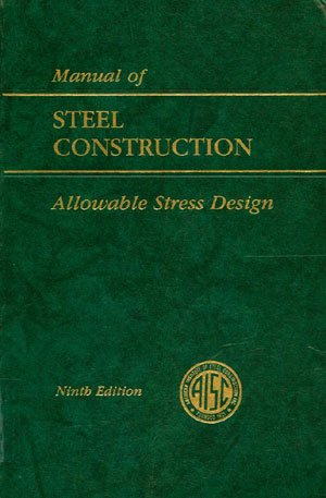 Manual of Steel Construction Allowable Stress Design 9th (Revised) edition cover