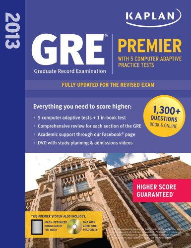 Kaplan GRE� 2013 Premier  N/A edition cover