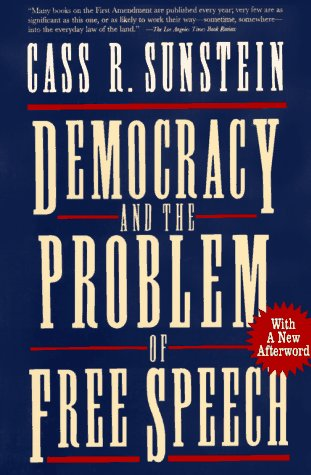 Democracy and the Problem of Free Speech   1995 edition cover
