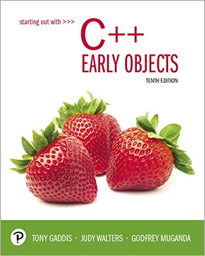 Starting Out with C++  10th 2020 9780135235003 Front Cover
