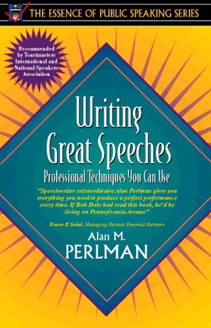 Writing Great Speeches Professional Techniques You Can Use  1998 9780205273003 Front Cover
