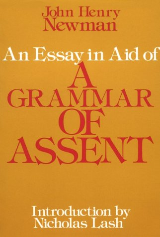 Essay in Aid of a Grammar of Assent   1979 (Reprint) edition cover