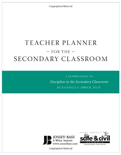 Teacher Planner for the Secondary Classroom A Companion to Discipline in the Secondary Classroom  2010 edition cover