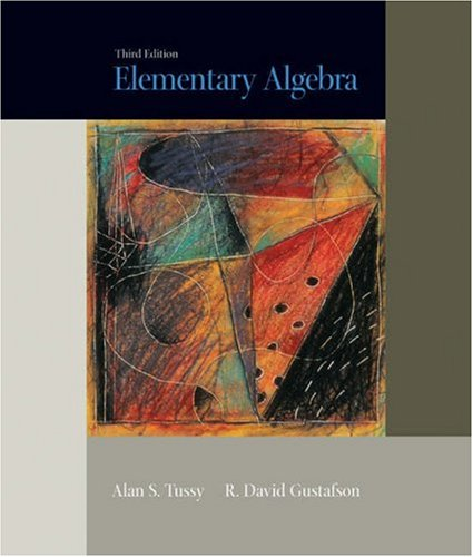 Elementary Algebra  3rd 2005 9780495014003 Front Cover