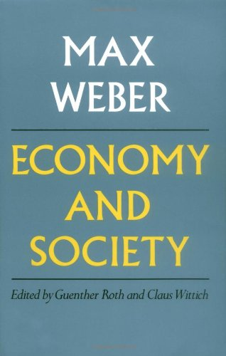 Economy and Society   1979 (Reprint) edition cover