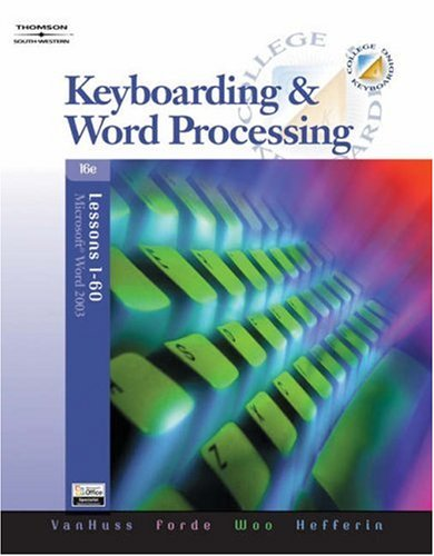 Keyboarding and Word Processing, Lessons 1-60  16th 2006 (Revised) 9780538728003 Front Cover