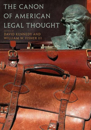Canon of American Legal Thought   2007 edition cover