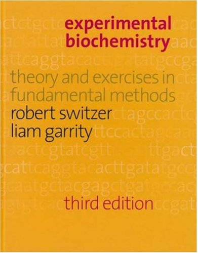 Experimental Biochemistry  3rd 1999 edition cover