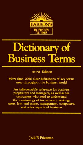 Dictionary of Business Terms  3rd 2000 9780764112003 Front Cover