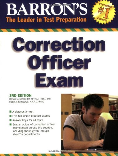 Barron's Correction Officer Exam  3rd 2008 (Revised) edition cover