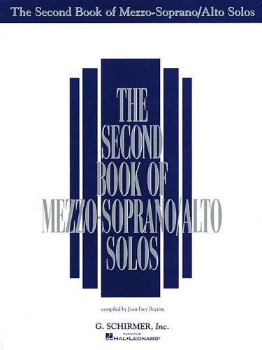Second Book of Mezzo Soprano/Alto Solos  N/A edition cover