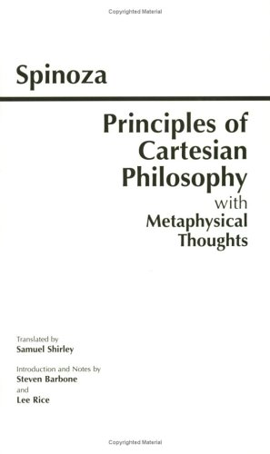 Principles of Cartesian Philosophy With Metaphysical Thoughts and Lodewijk Meyer's Inaugural Dissertation  1998 edition cover